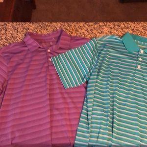 Two Walter Hagan Golf Shirts